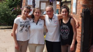 Maria and Paula, our Spanish Dressage Students with Emma and Katie